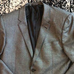 Emporia Armani Grey Tweed Blazer - 42R